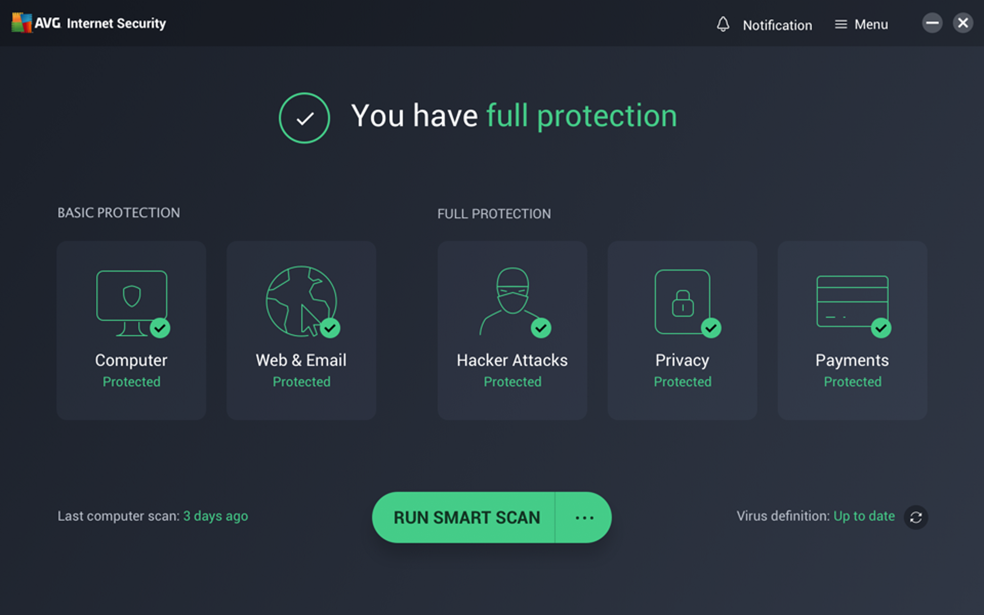 AVG Dashboard Paid Access Free
